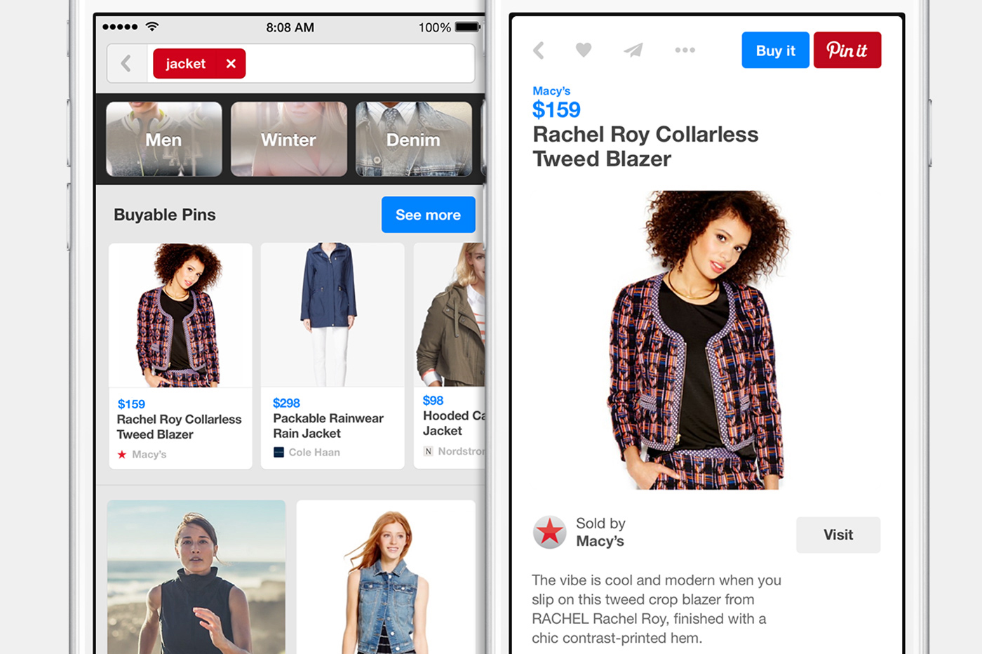 pinterest app buyable pins with apple pay