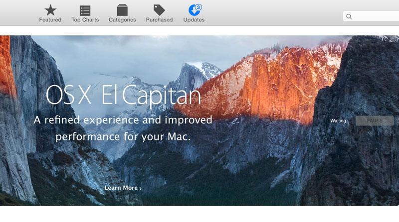 how to resume mac os x el capitan download