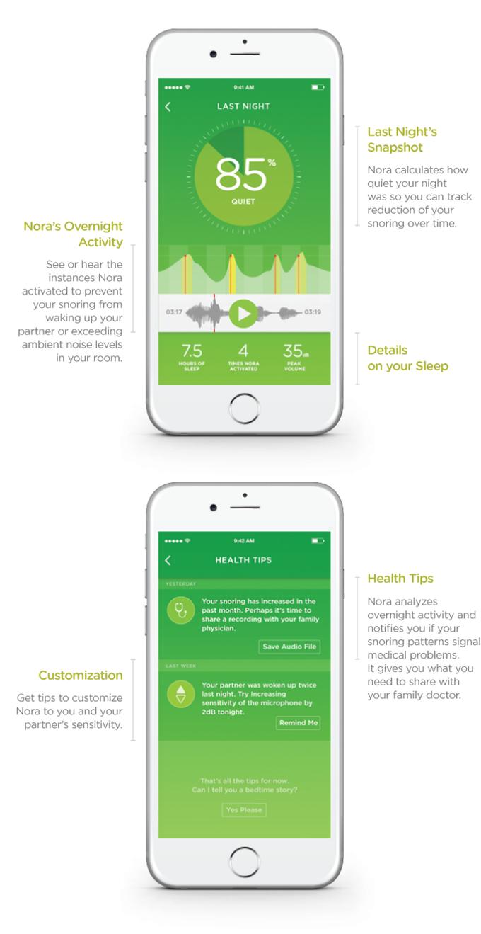 kickstarter nora the smart snoring solution