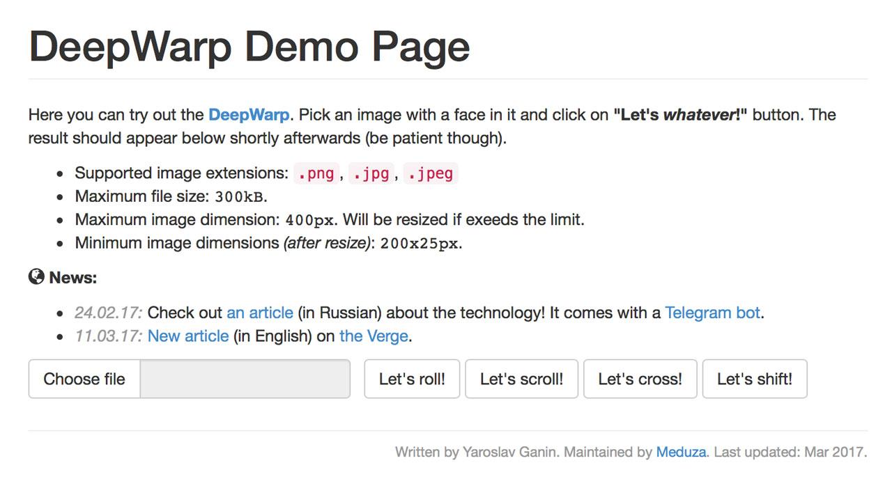 deepwarp-demo